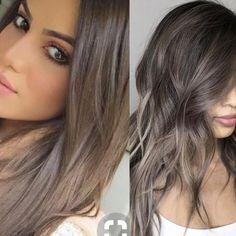 Ashy hair color