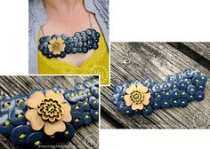 Button Bib Necklace & Earrings Tutorial
