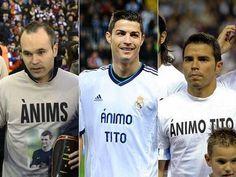 Iniesta, FC Barcelona, Cristiano Ronaldo, Real Madrid & Javier Saviola, Málaga.   Ánims Tito. [22.12.12]