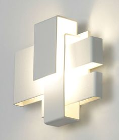 Original design wall light / stainless steel / chromed metal / LED ARZY by Frank Janssens WEVER & DUCRE