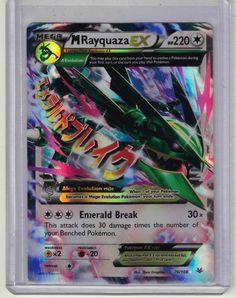 2015 Pokemon XY Roaring Skies Mega Rayquaza EX Full Art Foil Card 76/108 #Pokemon @Pokemon
