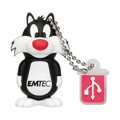 """Emtec Looney Tunes Stick USB Flash Drive with Design of """"Sylvester"""" Looney Tunes, Daffy Duck, 3d Design, Usb Drive, Usb Flash Drive, Objet Wtf, Mochila Adidas, Sylvester The Cat, Tom Y Jerry"""
