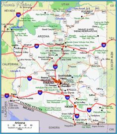 Map Of Arizona Cities Homeschooling Pinterest City Tucson - City map of arizona