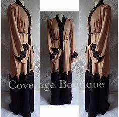 Beautiful Brown & Black w/lace Abaya...