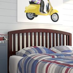 Perfect for your guest suite or high schooler's room, this stylish Timmy Slat Headboard completes any ensemble.