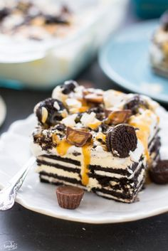 Peanut Butter Cup Oreo Icebox Cake makes a decadent and easy treat perfect for feeding a crowd.