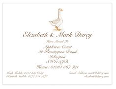 These illustrated hand drawn change of address cards are perfect for keeping everyone up to date with your move. This set features a hand drawn goose.