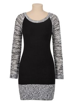 Marled Long sleeve sweater dress...Christmas dress maybe??