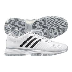 ff0fb1500060 Adidas adiPower Barricade Womens Tennis Shoe White Black Metallic Silver 10      Visit the image link more details. (This is an affiliate link)