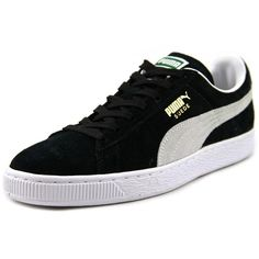 Puma Classic Eco Mens Sneakers (335 DKK) ❤ liked on Polyvore featuring shoes, sneakers, suede shoes, puma footwear, traction shoes, puma shoes and round toe sneakers