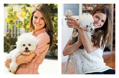 Actress Maria Menounos hosted a birthday party for her lovely 16-year-old Bichon Frise.