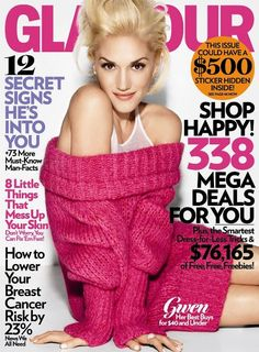 gwen stefani, glamour magazine, october 2009