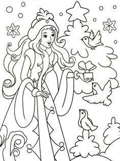 Coloring For Kids, Coloring Pages For Kids, Coloring Books, Christmas Books, Christmas Diy, Russian Folk Art, Christmas Coloring Pages, Window Art, Illustrations And Posters