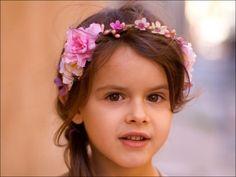 Couronne de fleurs pour enfant: Ornella (pastel) : Accessoires coiffure par nuagecolore sur ALittleMarket