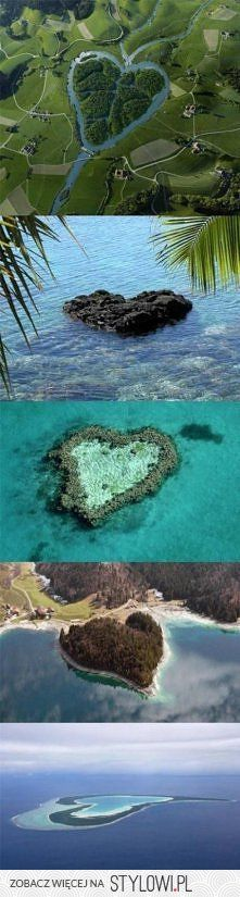 hearts in nature! SOMEONE PLEASE TAKE ME TO THESE PLACES!!