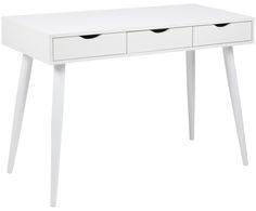129 Der Weiße Schreibtisch Neptun Mit Schubladen Und Beinen Aus Stahl Ist  Perfekt Für Ihr Home Office Und Arbeitszimmer. Shoppen Sie Weitere Tolle ...
