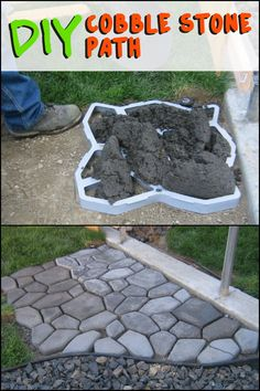 If you're thinking of going for the cobblestone, having a stencil could make your project a lot easier!