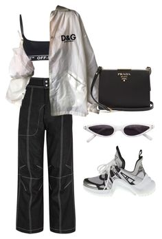 """Untitled #668"" by mimiih ❤ liked on Polyvore featuring Off-White, Vejas and Prada"