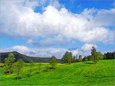 Wolken und Wiesen Poster von Pirmin Nohr