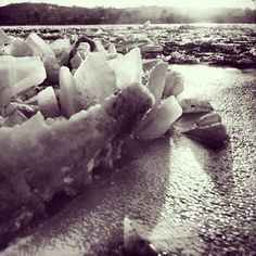 Buckled ice on the Ohio River in Photo by Paul Briol. From the Cincinnati History Library and Archives. PART 2 Jims Place, Cincinnati Museum, Ohio River, Historical Photos, Rivers, Timeline, Old Photos, Lakes, Kentucky