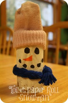 Toilet Paper Roll Snowman