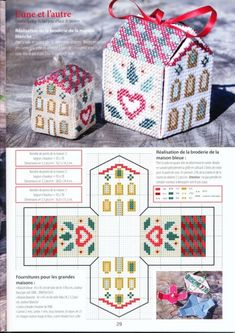 0 point de croix grille et couleurs de fils petite maison à monter