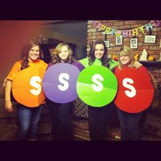 Skittle costume for Halloween! So easy to make!