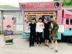 Jungkook, Jin, and Hoseok is giving SUGA a food truck