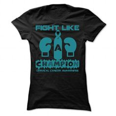 Champion - Cervical Cancer - #gift for girlfriend #small gift. SAVE => https://www.sunfrog.com/LifeStyle/Champion--Cervical-Cancer-Ladies.html?68278
