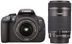 "Canon DSLR Camera EOS Kiss X7i with EF-S18-55mm IS STM and EF-S55-250mm IS STM - International Version (No Warranty). · APS-C world's smallest and lightest body as a digital single-lens reflex - Enable about 18 million pixels of the CMOS sensor (APS-C size) And video engine ""DICIG 5"" And sensitivity to ISO100 ~ 12800. Extended with ISO25600 also corresponds selectable - 9-point AF system (the central cross-type AF) · Continuous shooting performance of about 4 frames seconds -Ranging area…"
