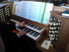 The organ of Rishworth School Chapel.