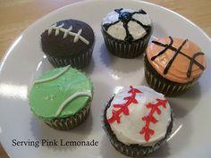 sport cupcakes..