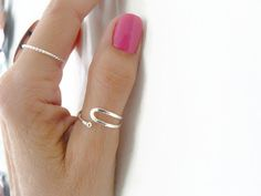 Sterling Silver Thumb Ring Index Ring by RossanaJewelryDesign