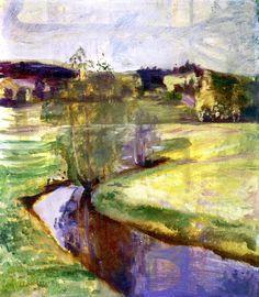 Norwegian Spring Landscape Edvard Munch - 1890