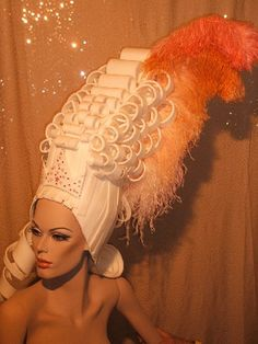Carnival in Venice Headdress, Headpiece, Fairy Godmother Costume, Foam Wigs, Edwardian Hairstyles, Mannequin Art, Human Doll, Hat Crafts, Hair Shows