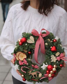 """Workshop """" Christmas wreaths"""" ❄️ 23 of December ⏰ 💳 Price for one person 300 NIS, for two persons together 560 NIS For details please PM me 💫🥰 . Mary Christmas, Office Christmas, Merry Christmas And Happy New Year, Christmas Door Wreaths, Christmas Decorations To Make, Christmas Crafts, Christmas Centerpieces, Holiday Decor, Christmas Flower Arrangements"""