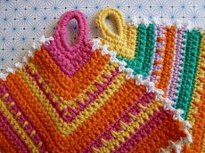Potholder, with simple pattern