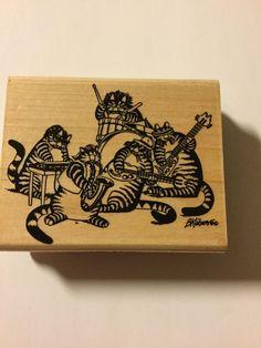 B. Kliban Cats Kool Kats Band A101-F Rubber Stamp Unused NEW RubberStampede HTF    eBay