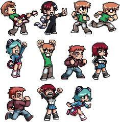 Scott Pilgrim Sprite picture by Unknown_Fan - Photobucket