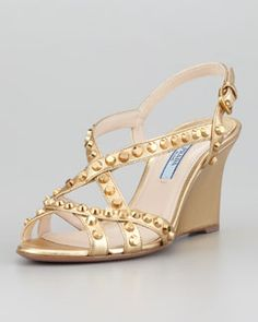 ed2a14fe7231 Designer Wedges   Wedge Shoes at Neiman Marcus. Strappy WedgesPeep Toe ...