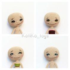 Обычно девушки стесняются  показывать себя с утра, без макияжа и прически, но… Crochet Teddy Bear Pattern, Crochet Doll Pattern, Crochet Patterns Amigurumi, Amigurumi Doll, Crochet Fairy, Diy Crochet, Doll Eyes, Doll Face, Knitted Dolls