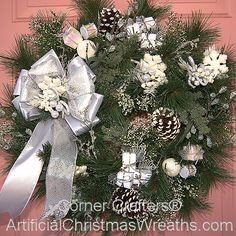 White Christmas Wreath - 2012 - #ArtificialChristmasWreaths #ChristmasWreaths #Wreaths #Wreath