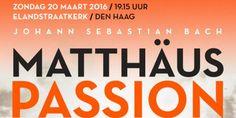 Op zondag 20 maart 2016 brengt het Haags Toonkunstkoor, in samenwerking met het VUKamerorkest,het Haags Kinderkoor van de Academy of Vocal Arts en een vooraanstaand gezelschap van solisten, één van Bachs meest bekende meesterwerken ten gehore: de Matthäus-Passion. Een tijd van bezinning De Matthäus-Passion vertelt het lijdensverhaal van Christus. Het omvat de laatste drie dagen …