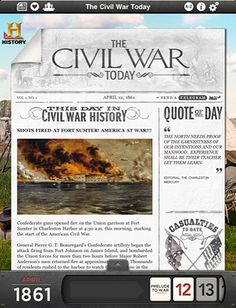 The Civil War Today: An elegant interactive trip into American history via iPad