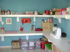 Want. Badly. Need to find room to do something like this. After all, kids love crafts and we. . . . .have a lot of kids!