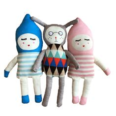 Material: PP Cotton, Plush, Wool Color: 3 Colors, As Picture Shows Size Chart: Gray Doll- 68cm Length Pink Doll- 70cm Length Blue Doll- 70cm Length