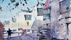 Painting a subject taken from a TV program - Watercolor Demonstration by...
