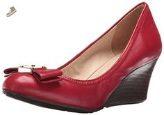 81b9cfb4a2 Cole Haan Women's Tali Grand Bow Wdg65 Wedge Pump, Tango Red Leather, 9.5 B