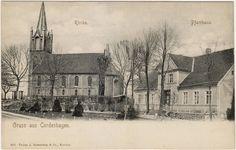 Kordeshagen Cordeshagen Dobrzyca bei Köslin Pommern Pfarrhaus und Kirche AK 1900