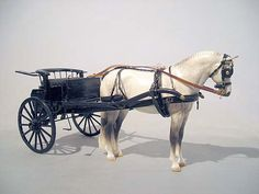 This cart would be awesome for a Gray Welsh Pony (Braymere Custom Saddlery) Horse Wagon, Horse Cart, Bryer Horses, Old Wagons, Horse Carriage, Painted Pony, Horse Sculpture, Equestrian Outfits, Beautiful Horses